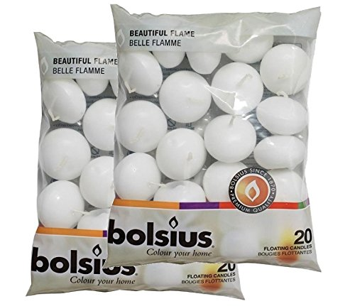 Bolsius Floating Candles x 40 in White