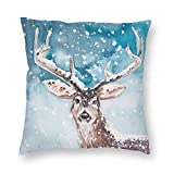 ZVEZVI Discover Snow Deer Throw Pillows Covers Accent Home Sofá Cojín Funda de...