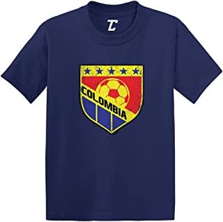 Colombia Soccer - Distressed Badge Infant/Toddler Cotton Jersey T-Shirt