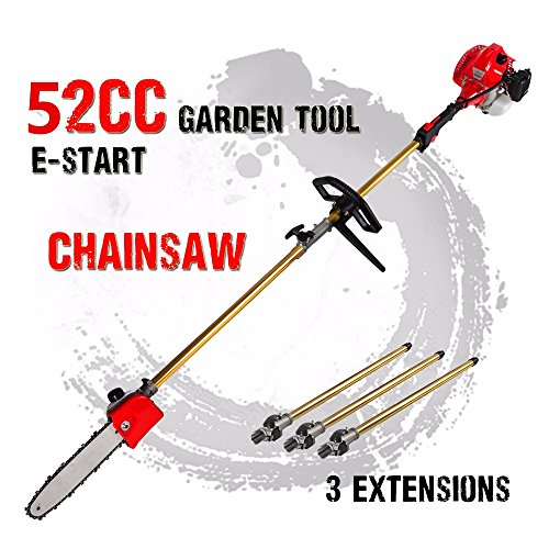 Best Price CHIKURA 52cc 2 in 1 Chainsaw Hedge Trimmer Brush Cutter Whipper Snipper Pruner Tree with ...