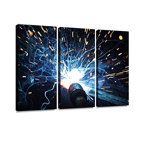 YKing1 Welding Wall Art Painting Pictures Print On Canvas Stretched & Framed Artworks Modern Hanging Posters Home Decor 3PANEL