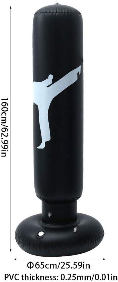 Standboxsack Aufblasbare,160cm Aufblasbarer Boxs/äule Stehend Geeignet f/ür das Fitnesstraining der Kinder miuline Boxsack Kinder F/ähigkeit zur K/örperkoordination