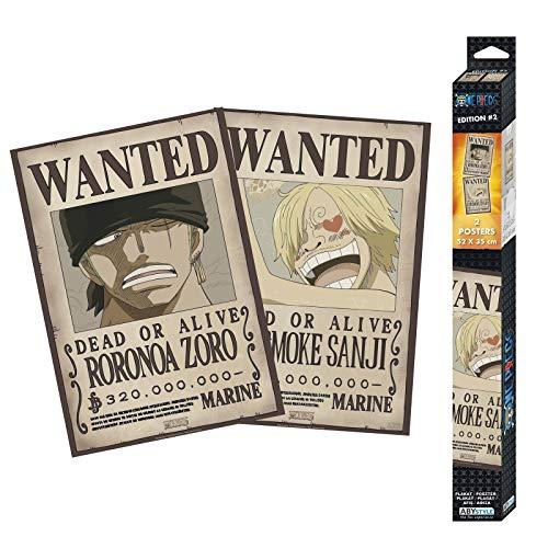 ABYstyle - One Piece - Set 2 Chibi Posters - Wanted Zoro & Sanji (52x35)