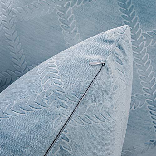 Topfinelクッションカバー45×45cm北欧おしゃれベルベットソファ背当て雑貨生活プレゼントブルー#612枚セット(全10色)