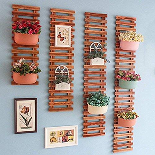 Plante Fleur support de pots de fleurs en bois mural d'angle multifonction multicouche Style Pastoral balcon Salon Intérieur/extérieur, bois, couleur (Taille : 25 x 150 cm)