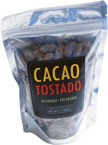 Momotombo - Fèves de cacao torréfiées non pelées- Cacao Nicaragua 100% - 250gr