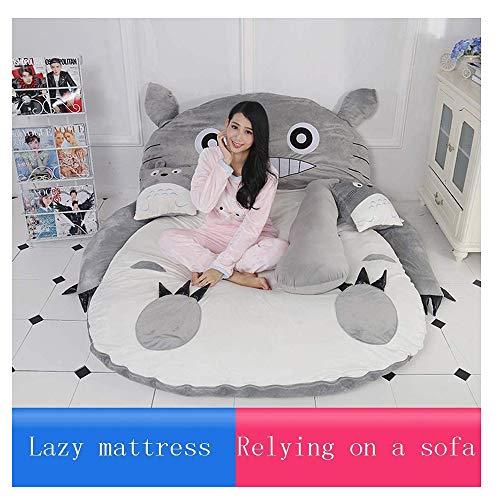 BJZP Totoro Tatami Letto Matrimoniale Doppio per Adulti e Bambini Divano Letto Beanbag Morbido Caldo Fumetto Totoro Tatami Sacco a Pelo Materasso,1.2x0.8m