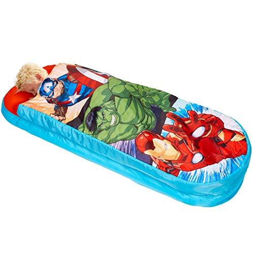 Marvel Avengers - Junior-ReadyBed – Kinder-Schlafsack und Luftbett in einem