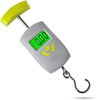 Mini Portable Scale Portable Electronic Scale Spring Balance High Precision Small Hand Weighed 50kg (Color : Gray)