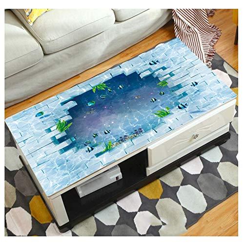 MAI&BAO Nappe Table Protection PVC 1.5mm Lavable Imperméable Anti Tache l'huile Modèle Dessin animé 3D Toile cirée Kitchen Picnic intérieur extérieur Home Jardin,G,90x160cm(35x63inch)