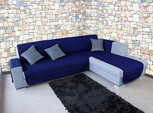 Banzaii Funda Cubre Chaise Longue Anti-Sucio, Antimanchas y Impermeable y antipelo Aviación Azul 3 Plazas Chaise Izquerdo