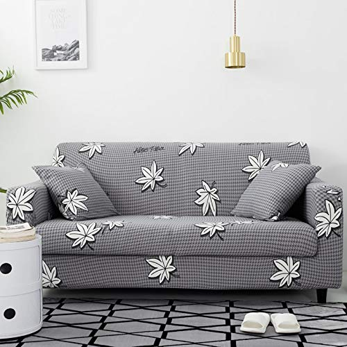 ASCV Fundas Protectoras de sofá con Estampado de Cuerdas para Sala de Estar Funda elástica elástica Fundas seccionales para sofá de Esquina A2 3 plazas