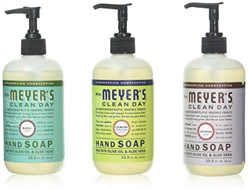 Mrs. Meyer's Clean Day Liquid Hand Soap 3 Scent Variety Pack (Variety Pack - 1)