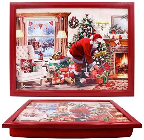 The Leonardo Collection LP51557 Christmas Macneil Santa Lap Tray, 44x34x6cm, Multicolour