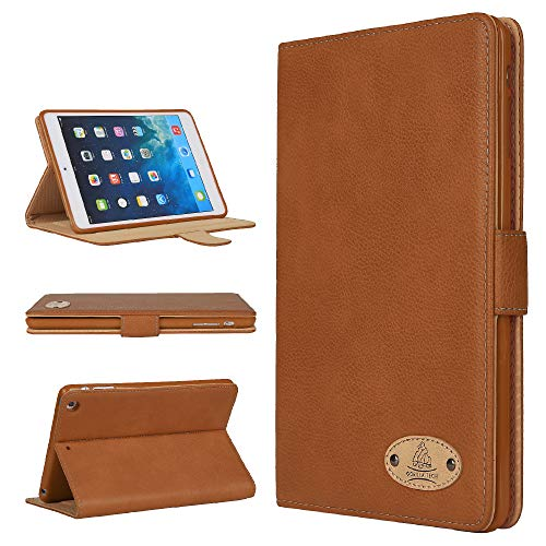 Gorilla Tech Apple iPad Air 3rd Generation Leather Case Smart Protective Cover with Stand for Air 3rd Gen 2019 Model A2152 A2123 A2153 A2154 Brown Genuine Luxury Executive Leather in Retail Packing
