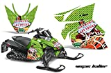 AMR Racing Snowmobile Graphics kit Sticker Decal Compatible with Arctic Cat ProCross Sno Pro 2012+ - Vegas Baller Green