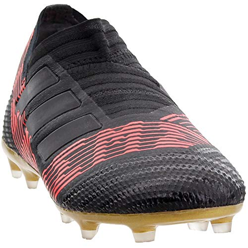 adidas Kids' Nemeziz 17 360 Agility FG Junior Soccer Cleats (4.5) Black/Red
