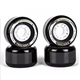 TwoLions 82A PU 72mm x 44mm Drift Skates Replacement Wheels For Freeline Skates (Pack of 4 Piece) (Black, 72x44mm)