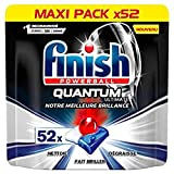 Finish Pastilles Lave-Vaisselle Powerball Quantum Ultimate - 52 Tablettes Lave-Vaisselle