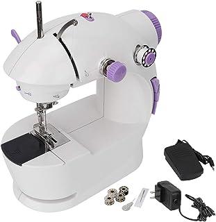 Mini máquina de coser para principiantes, portátil de 2 ve