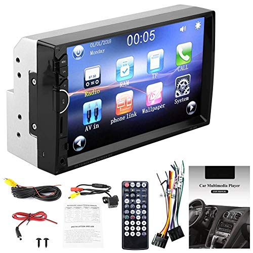 Conkergo 7'Double-DIN Touch Screen Car Player MP5 BT Manos Libres Radio FM Control Remoto