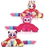 Keel Toys 35cm Hugg'ems Soft Cuddly Toy Hanging Toy (Multi coloured Bear)