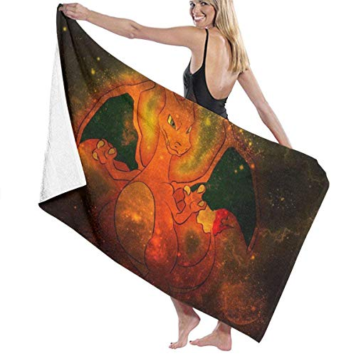 Hdadwy Poke Mon Elf Charizard Superweiche Badetuch Schwimmen Spa Handtuch Dusche Camping Yoga Sandstrand Handtuch Benutzerdefinierte Größe 31x51inch