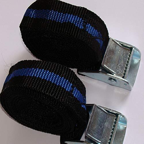 Paquete de 10 correas de sujeción CAM para equipaje de mano, 25 mm x 2500 mm de largo.