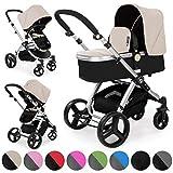 Froggy Kinderwagen MAGICA Kombikinderwagen Sportwagen Buggy Kinderwagenset 2 in1 mit Babywanne und...