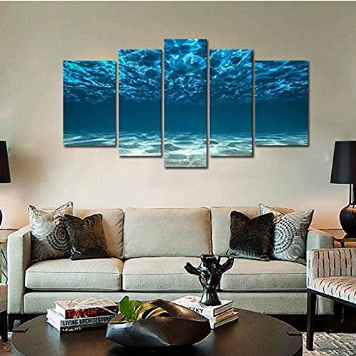 LLFG - Quadro da parete in HD con stampa artistica, colore: blu oceano, viste di sotto-foto, paesaggio, per decorazione interna senza cornice, 10 x 15 x 2 10 x 20 x 25 x 1)