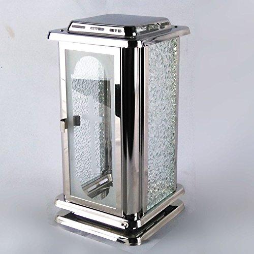 designgrab Grablampe Royal aus Edelstahl mit graviertem Kreuz auf der Türseite