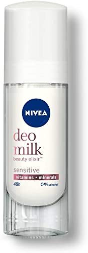 Nivea Women Deodorant Roll On, Deo Milk Sensitive, for Beautiful, Nourished Underarms and 48h Odour Protection, 40 ml
