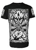 Baphomet T-shirt pour homme Darkside Occulte Nu Gothique Satanique Gothique - Noir - XX-Large