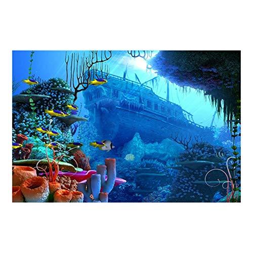 sjkkad diepte oceaan zee onderwater worl koraal vis schilderij moderne foto's wooncultuur canvas poster woonkamer muurkunst-60x90 cm geen lijst