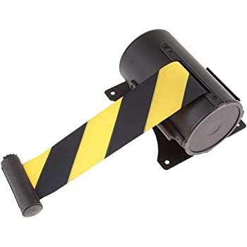 FlexiBarrier Retractable Barrier Tape//Wall Bracket with Strap Basic 4.5m