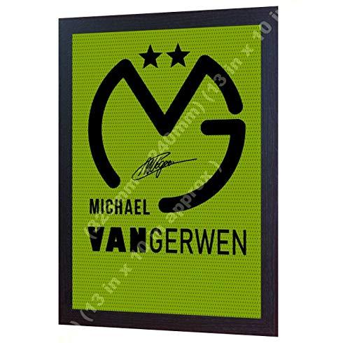 S&E DESING Shirt Michael Van Gerwen signiert auf Leinwand, gerahmt