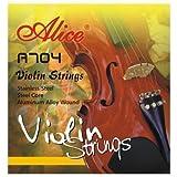 Alice Jeu de cordes de violon A704 pour 3/4 et 4/4 violons