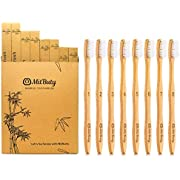 Bamboo Toothbrush - Gentle Soft, 8 Pack – Natural, Biodegradable, Eco-Friendly Toothbrush by MitButy