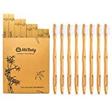 Bamboo Toothbrush - Gentle Soft, 8 Pack – Natural, Biodegradable, Eco-Friendly Toothbrush by...