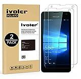 ivoler [2 Stücke] Panzerglas Schutzfolie für Microsoft Lumia 550 [9H Festigkeit] [Anti- Kratzer] [Bläschenfrei] [2.5D R&e Kante]