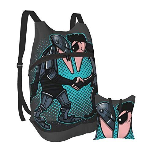 Hine Vs Hine cop Vs Terminator Spy Vs Spy Men's and Women's Waterproof Portable Folding Backpacks, Camping Outdoor Travel Hiking Backpacks