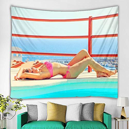 m u Bohemia Tapiz de Playa Bikini Vestido de Verano Bohemio Traje de baño Kimono Mandala Toalla Manta de Playa Tela no Tejida 200 * 150Cm Tapiz MU