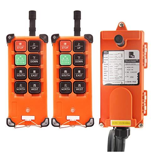 NEWTRY Control remoto inalámbrico de 8 botones, 220 V, 2 transmisores, canal industrial, elevador eléctrico, receptor de radio (transmisor F21E1B + receptor de CA 220 V)