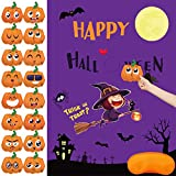 Halloween Party Games Pin The Pumpkin Game for Kids 16 Pumpkins Halloween Costume Party Favors Decorations…