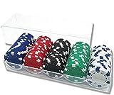 INHEMI Profesional Juego Set de Poker, 100 Fichas de Póquer