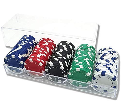 INHEMI Pokerset mit Pokerchips im Würfeldesign,100 Stück