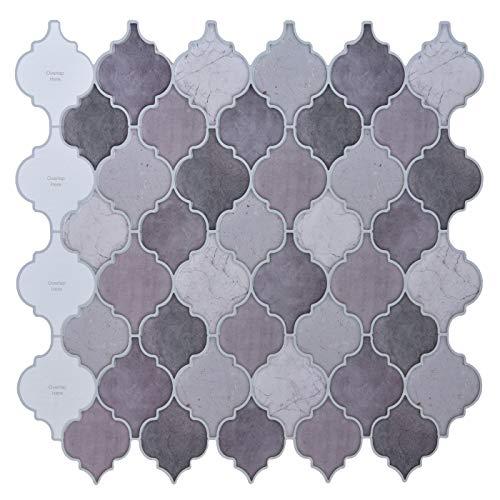 Peel and Stick Tile Backsplash - Arabesque Tile Backsplash ,Mosaic Backsplash Sticker,(10 Sheets)