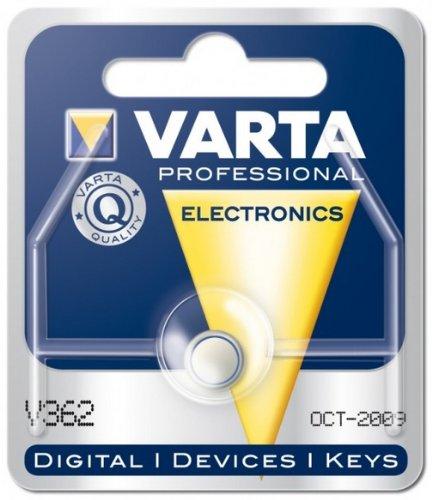 10X Varta 38503 Professional Electronics SR58 (V362), 1 Stück Blister - Silberoxid-Zink-Knopfzelle, 1, 55 V Uhrenbatterie
