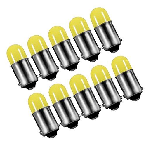 Baoblaze 10 x LED Apoule Tableau de Bord/Plafonnier de Voiture, 12V DC, LED BA9S 3D COB