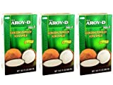 Aroy-D - Leche de coco - Paquete de 3 (3 x 500 ml)
